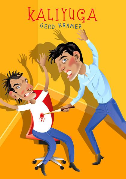 Mann wird von Arbeitskollegen erstochen, Büro, Hass, Mord, Mobbing, Konkurrenzkampf, Wut, Bürostuhl, Messer, Blut, Opfer