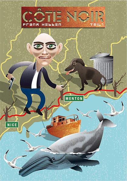 cote d´azur, Mittelmeer, kranker Mann mit Waffe, Wal, Schiffswrack