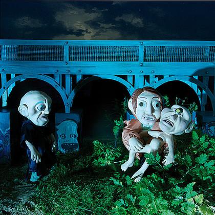 Brücke, Monster, Frankenstein, 3D, Knetfiguren, Plastilin