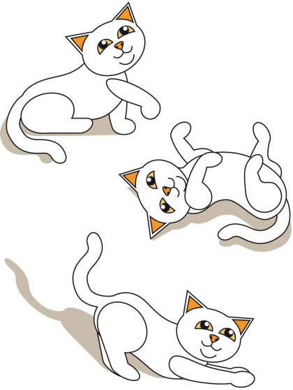 Katzen, Weiße Kätzchen, Katzenbabys