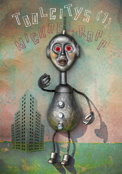 Figurine, Knetfigur, Roboter, shabby,