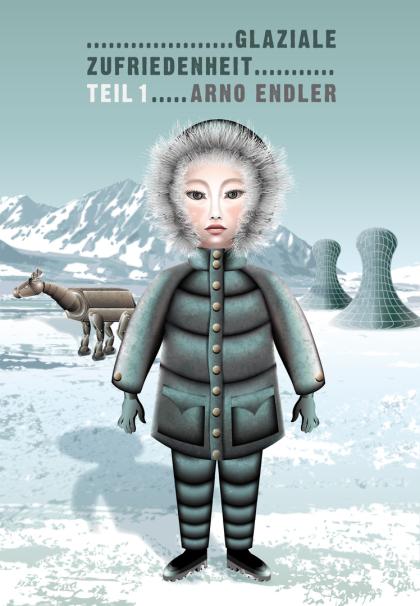 Mädchen im Schnee, Arktis, Antarktis, ewiger Schnee, Inuit, Eskimomädchen, Eskimo, Inuitmädchen, Illustration Mädchen im Schnee,